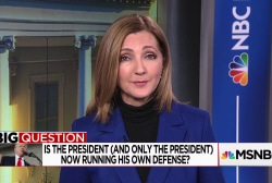 The Big Question: Is the president now running his own defense?