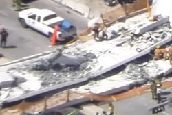 Pedestrian bridge in Florida collapses, fatalities reported