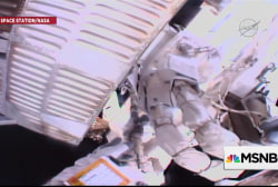 SCIENCE: Astronauts repair International Space Station