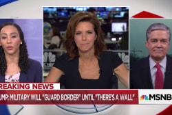 "Harwood: Trump militarizing U.S.-Mexico border is ""dangerous"""