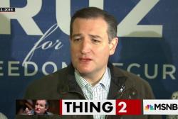 Ted Cruz's strange tribute to President Trump