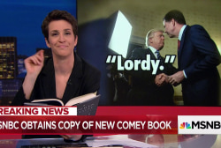 James Comey book leaks early, Rachel Maddow shares highlights