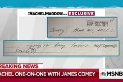 Comey recalls Trump threatening lawsuit over Steele dossier