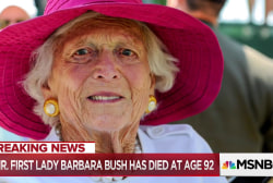 Barbara Bush, wife and mother to presidents, dies at age 92