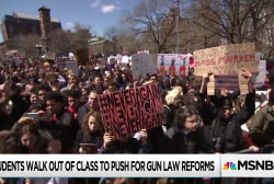 Students across U.S. walk out of class to advocate for gun reform