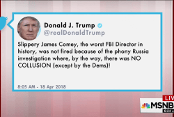 Trump says 'Slippery' Comey not fired over Russia