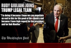 Rudy Giuliani joins Trump legal team