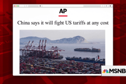 Trump doubles down on trade war; China vows to fight back