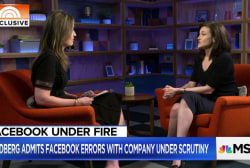 Facebook's Sandberg: 'We could have protected data sooner'