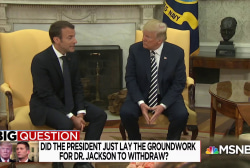 Big Question: Did the President lay the groundwork for VA pick to withdraw?