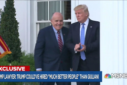 "Trump lawyer blasts Giuliani, asks if Cohen was a ""mob"" fixer"