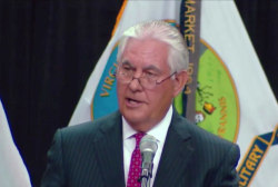 Tillerson says 'alternative realities' a threat to democracy