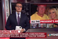Trump admits he paid off Stormy Daniels