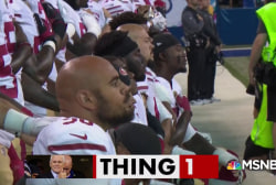 Mike Pence thinks he's #winning on the NFL kneeling issue