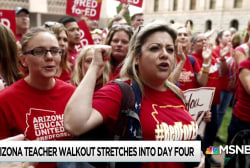 Arizona teachers seeking better pay walk out for fourth day