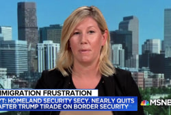 Tension between Trump and Homeland Sec. related to Mexico not paying for the wall: NYT
