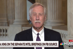 Hold one FBI briefing, not two, says Senator King