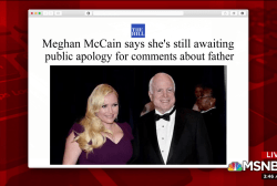 Meghan McCain awaits public apology from WH aide