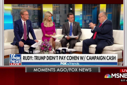Giuliani back on Fox Thursday reacting to Trump tweets
