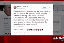 Trump tweets on 'greatest Witch Hunt' in US history