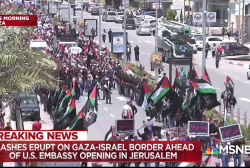 Protests erupt as the US opens its embassy in Jerusalem