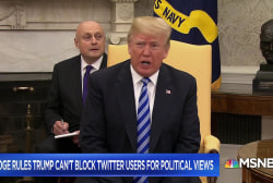 No more blocking, Mr. President