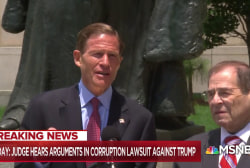 Senator suing Trump for corruption 'hopeful' and 'encouraged' with judge