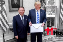 Trump hosts N. Korean aide in Oval Office & says summit's back on