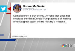 RNC Chair threatens Republicans who don't fall in line with Trump