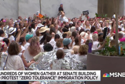 Hundreds of women arrested at protest of Trump border policy