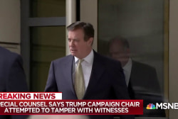 Mueller accuses Manafort of attempting to tamper with witnesses