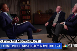 Bill Clinton defends legacy in Me Too era