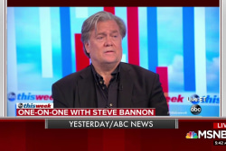 Steve Bannon comes to the defense of Trump