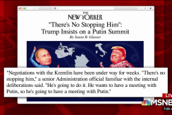 Trump pushes for meeting with Putin: New Yorker