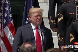 Trump fumbles song lyrics, tweets about facelift rumors
