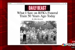 Mike Barnicle recalls what he saw watching RFK train