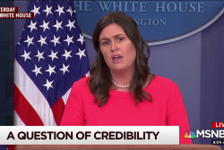 A question of credibility for Sarah Huckabee Sanders