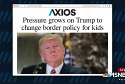 Pressure grows on Trump to change border policy for kids