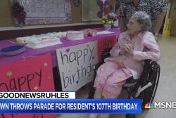 #GoodNewsRuhles: A 107th birthday parade for Oklahoma woman