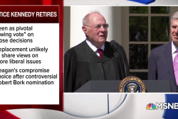 Supreme Court Justice Kennedy's crucial role as the deciding 'swing vote'