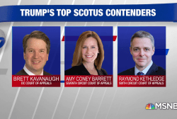 Trump narrows down SCOTUS list to 3