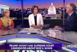 Trump narrows Supreme Court short list