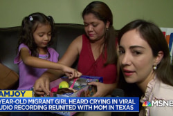 6-year-old migrant girl crying in viral audio is reunited with her mom