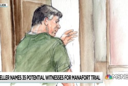 Mueller presents 35-person witness list for Manafort trial