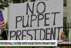 Protesters rally outside White House for 8th straight day