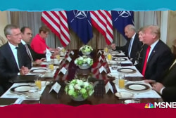 Trump sounds sour note at NATO summit, lack of eggs upsets Kelly