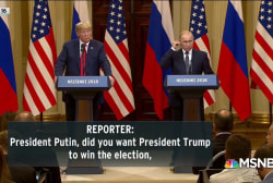 Question on Putin support for Trump added to W.H. transcript