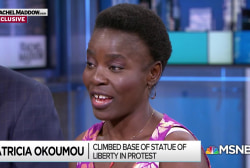 Patricia Okoumou explains immigrant rights for Donald Trump