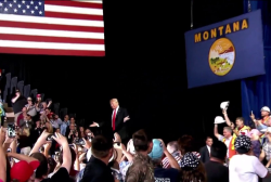 Trump delivers falsehoods, lies at Montana rally