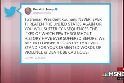 Trump threatens Iran in late-night Sunday tweet